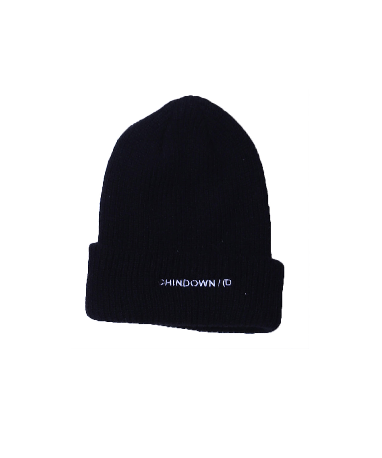 BASIC BEANIE CHINDOWN EMBROIDERED (BLACK)