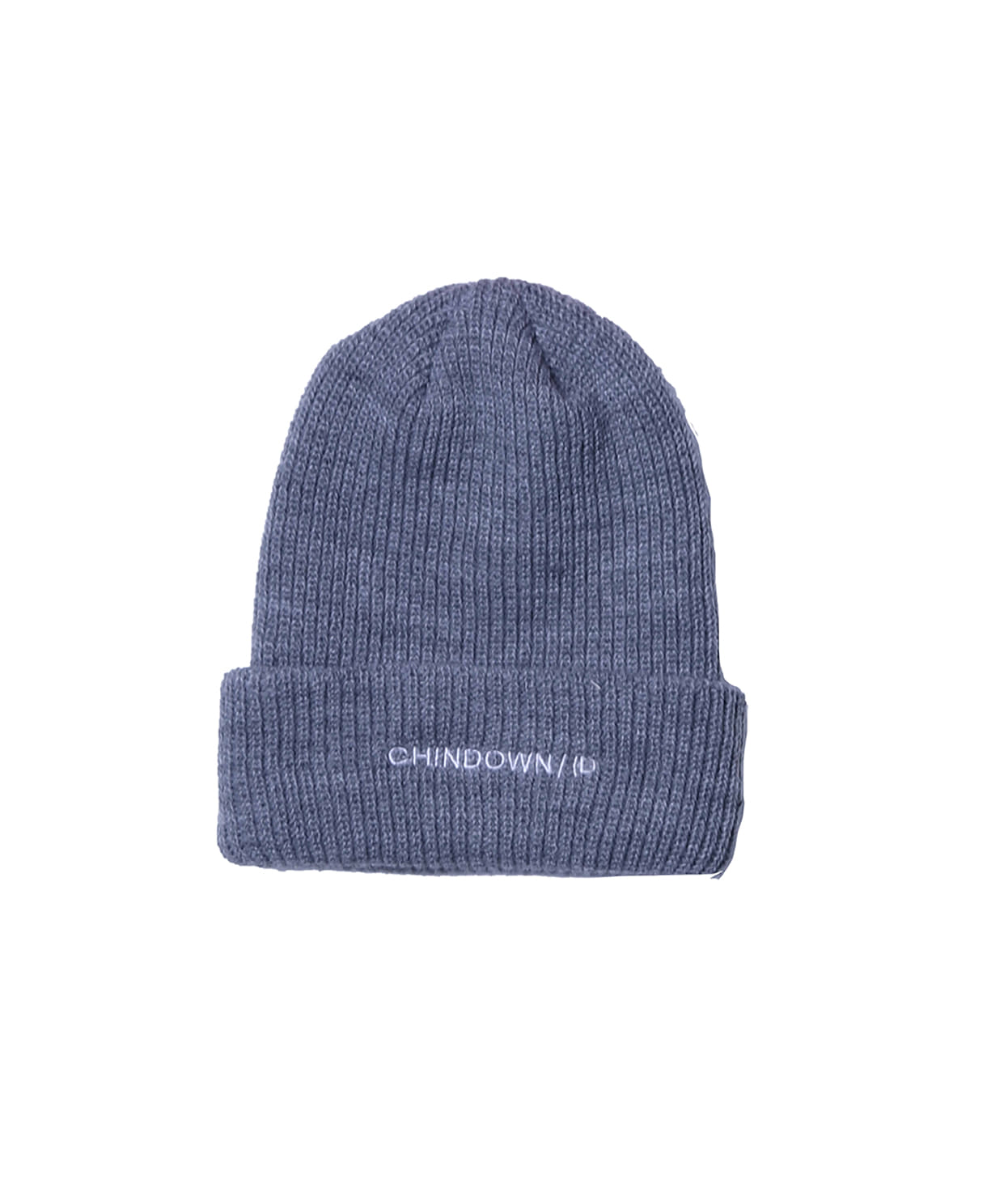 BASIC BEANIE CHINDOWN EMBROIDERED (GREY)