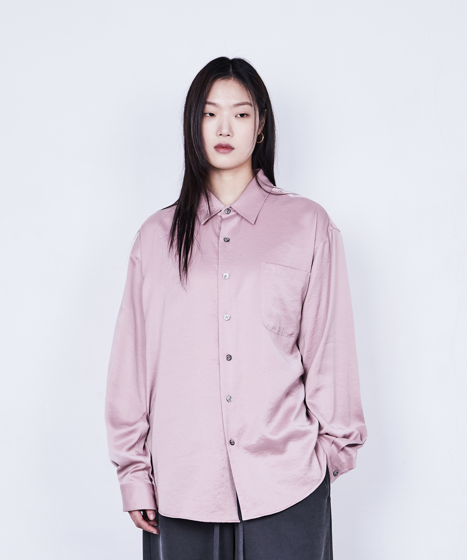 RELAXED SHIRT SATIN (PINK PEARL)